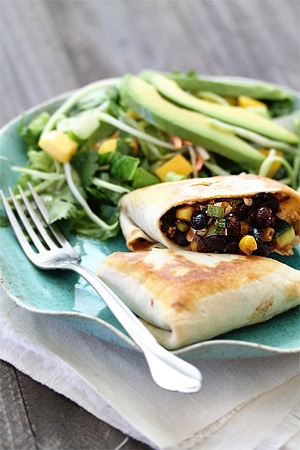 vegetarian black bean burritos