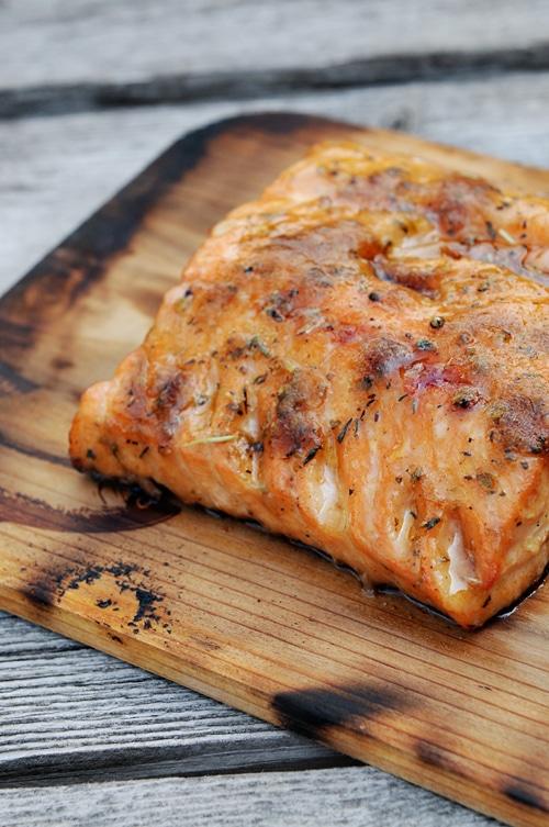 Cedar Plank Salmon Vertical