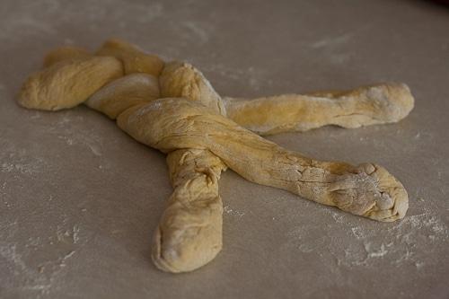 pumpkin challah braids