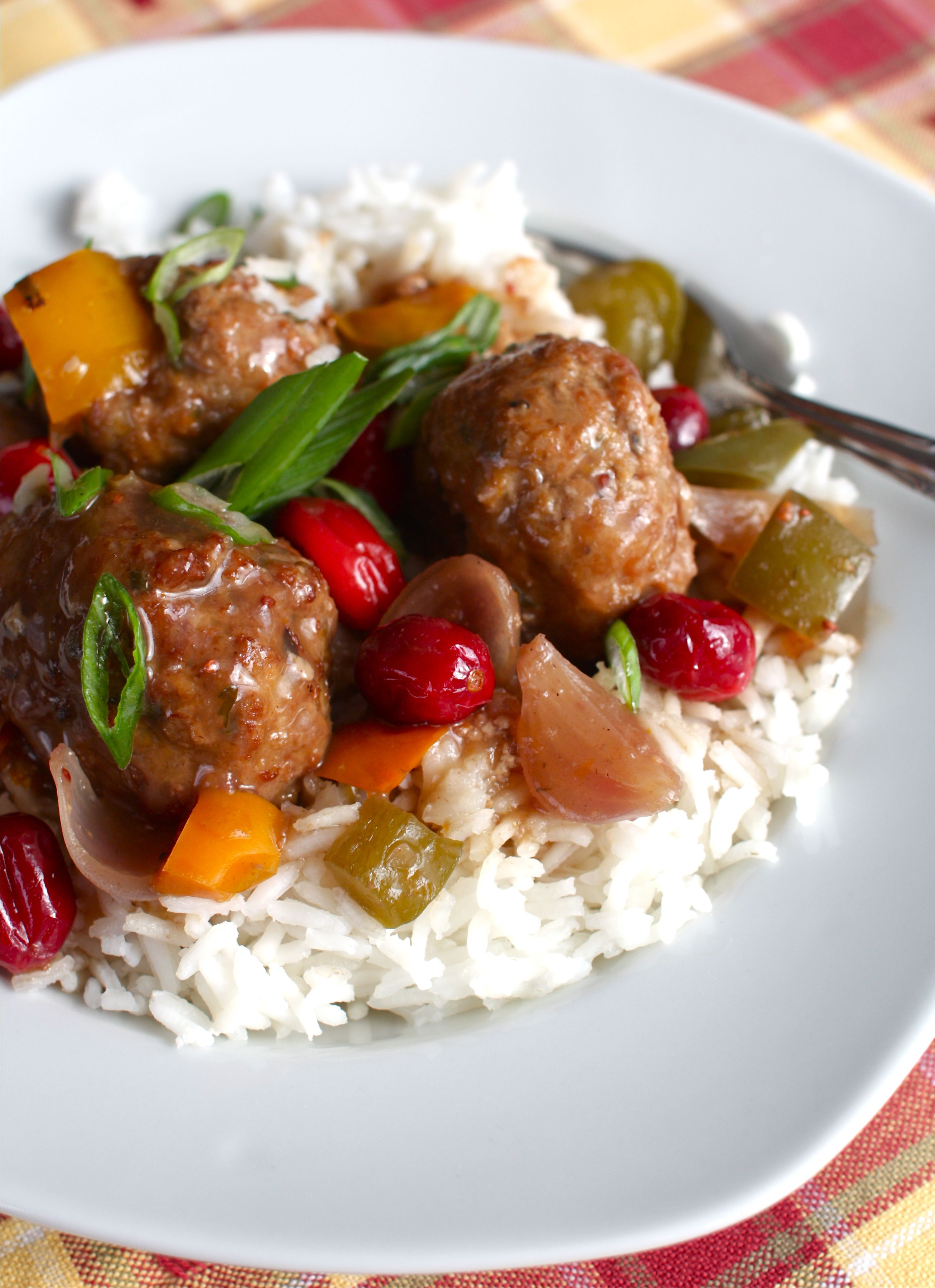 Sweet Sour Turkey Meatballs With Cranberries Peppers Slow Cooker