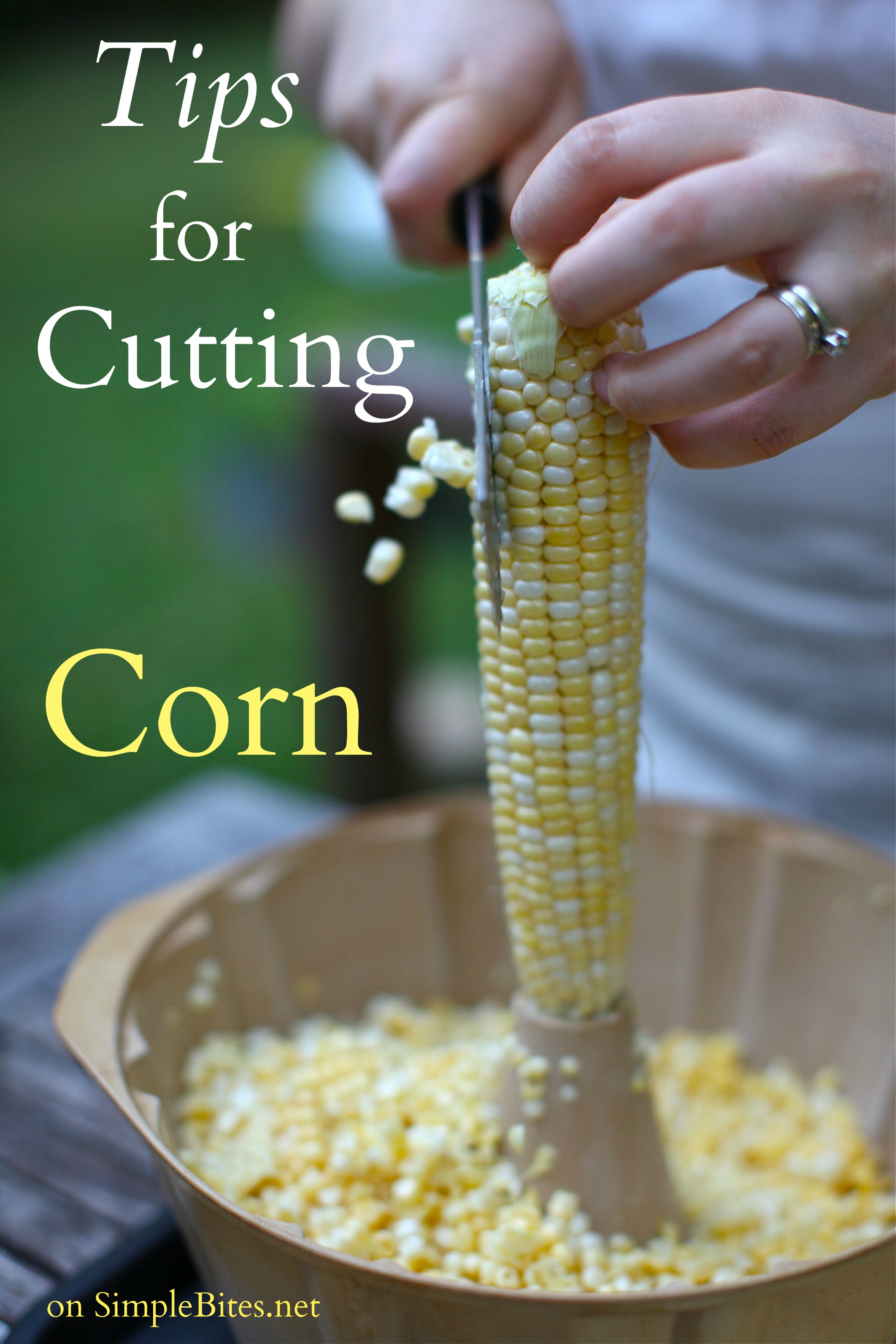A Quick Trick For Cutting Corn Off The Cob Grilled