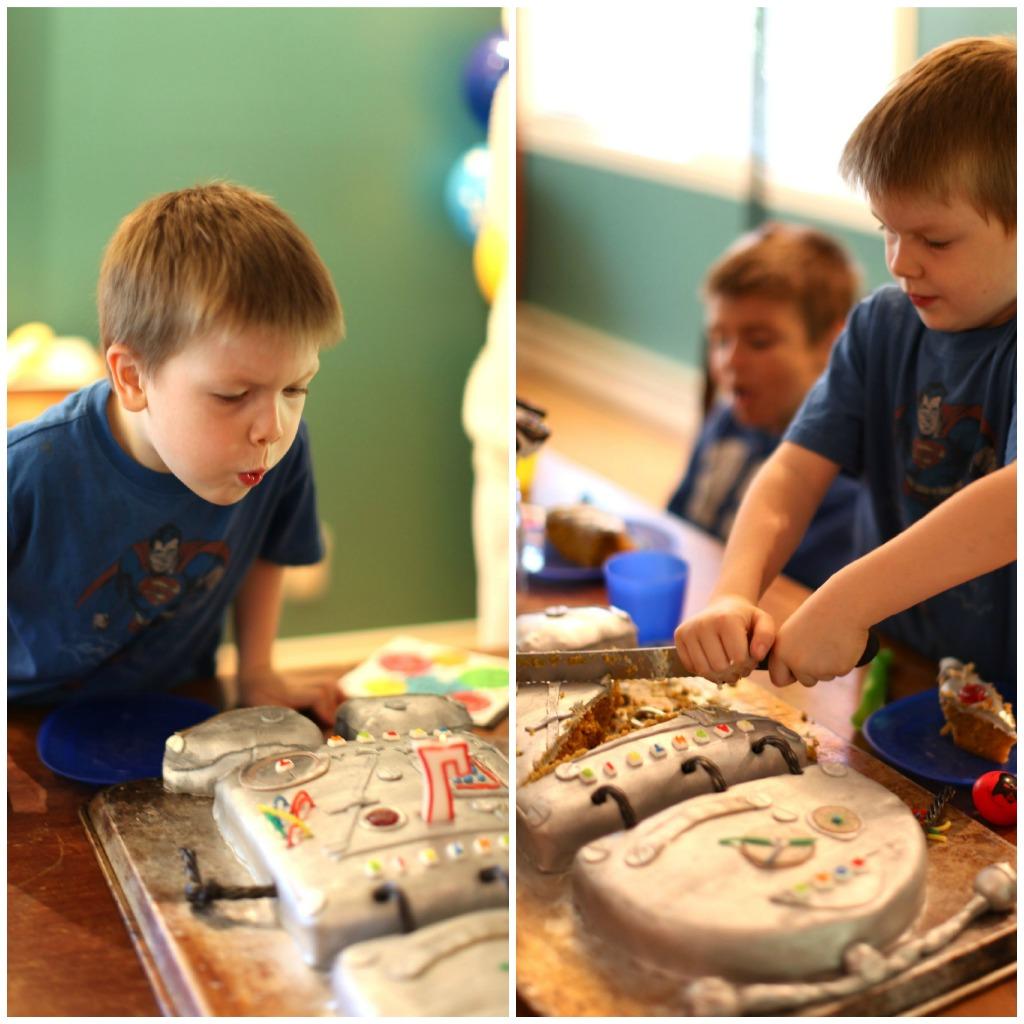 Enjoyable How To Make A Robot Birthday Cake For Kids Birthday Cards Printable Benkemecafe Filternl