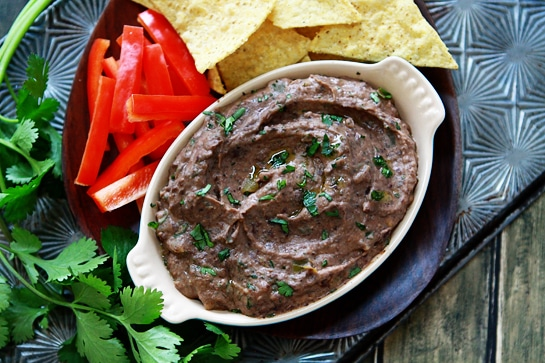 black bean green chile hummus