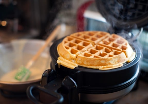 easy homemade waffle mix on simplebites.net