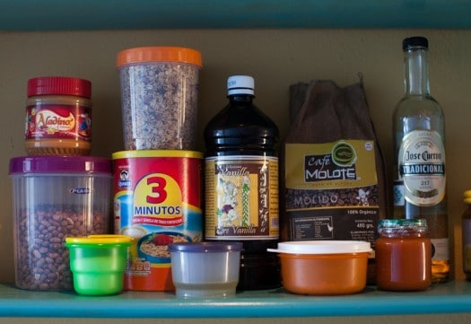basic pantry in Mexico