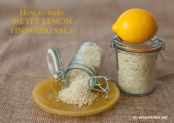 how to make Meyer lemon finishing salt