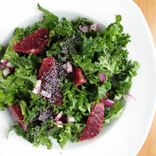 kale & blood orange salad