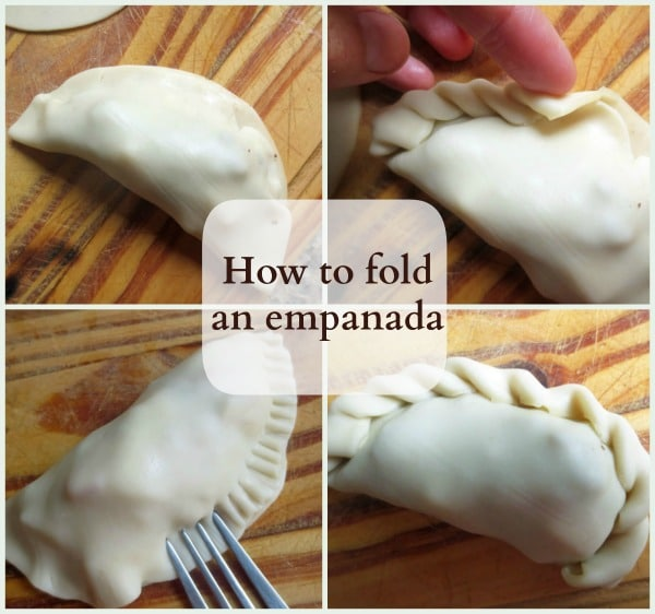 how to fold an empanada