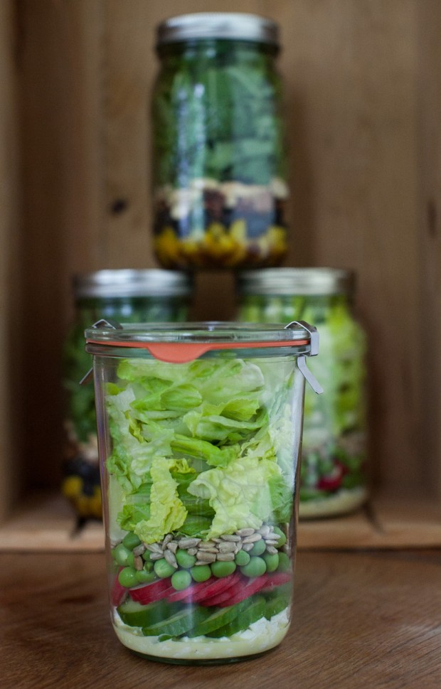 A week of Salads in Jars on simplebites.net #salad #jars #lunch #realfood