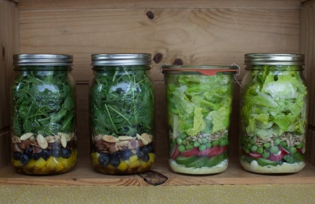 a week of do-ahead mason jar salads