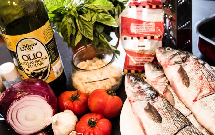 ingredients for making fish