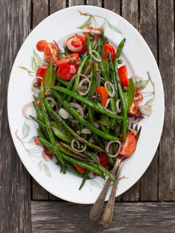 Grilled Green Bean Salad on www.simplebites.net