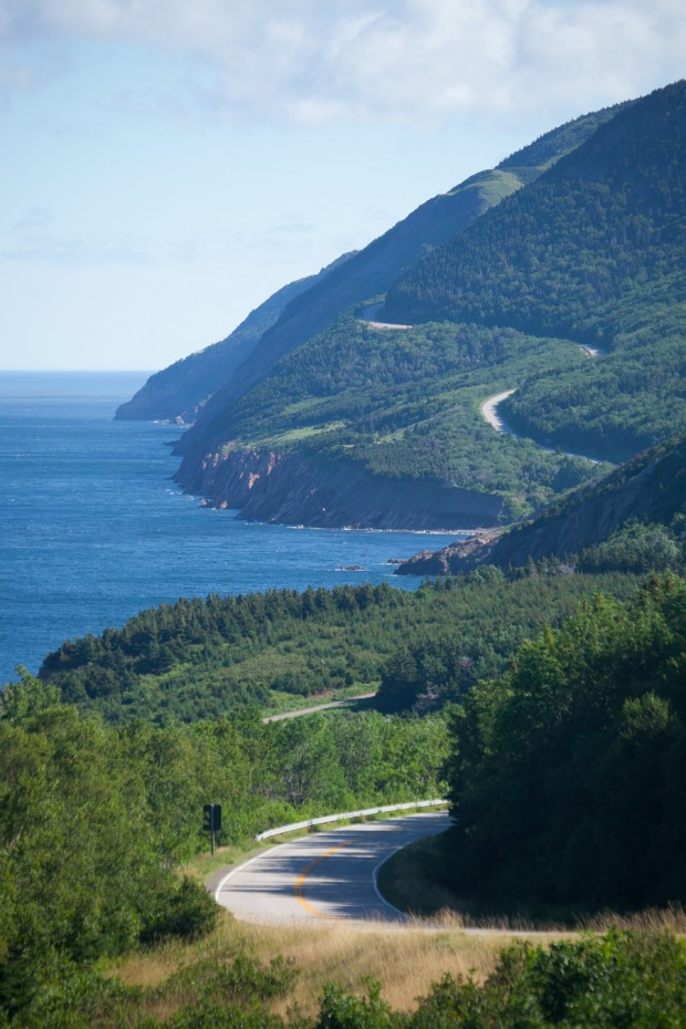 Cabot trail on Cape Breton