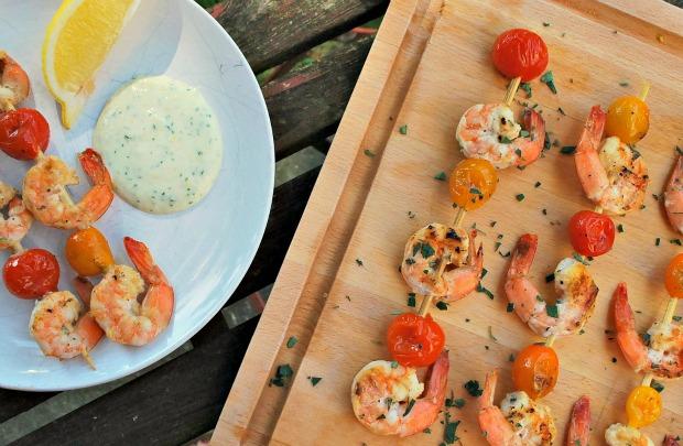 Shrimp & Tomato Kebabs 3