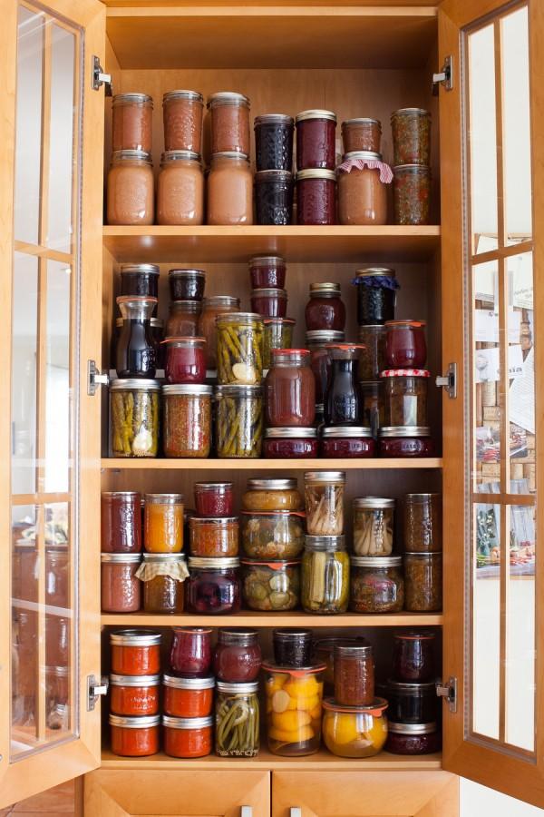Simple Bites Kitchen Tour - the preserves pantry