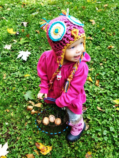 Clara and eggs