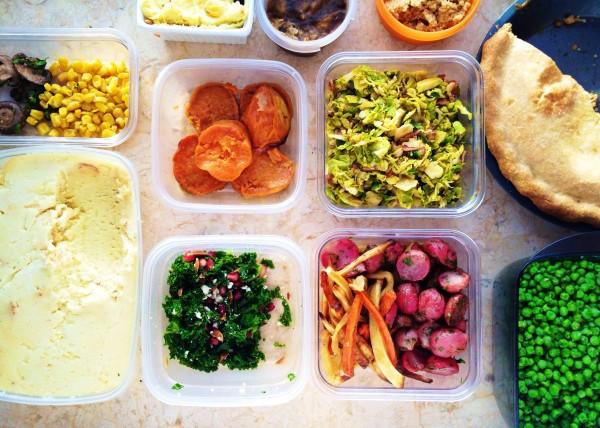 Christmas dinner leftovers.