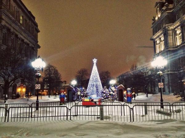 Montreal on Christmas Eve eve.