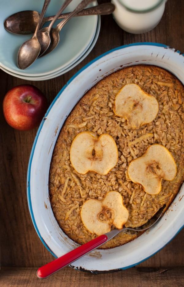 Apple Pie Baked Oatmeal | Simple Bites #breakfast #apples #oatmeal #recipe