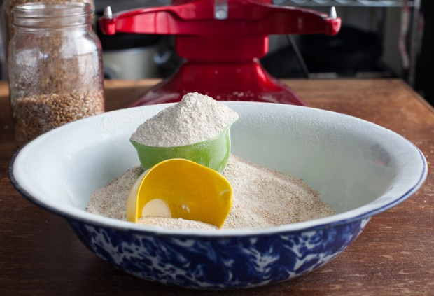 Grinding grains for flour | Simple Bites #DIY #realfood