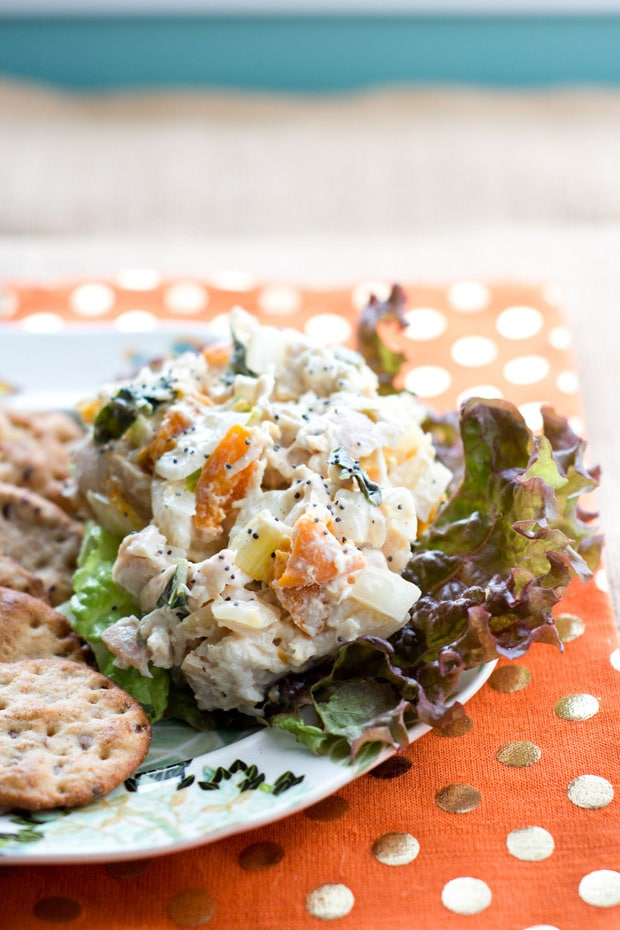 Apricot Basil Chicken Salad