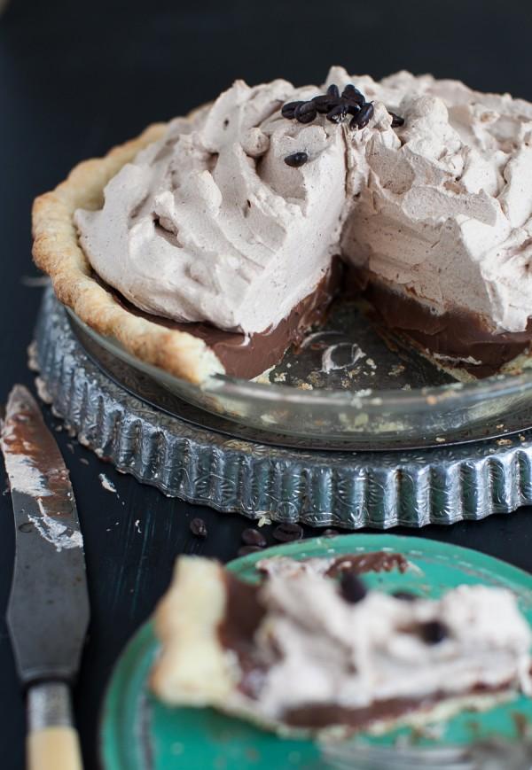 Mocha Pie with Espresso Whipped Cream | Simple Bites #pie #mocha #recipe