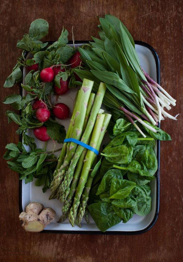 Spring vegetable soup ingredients | Simple Bites