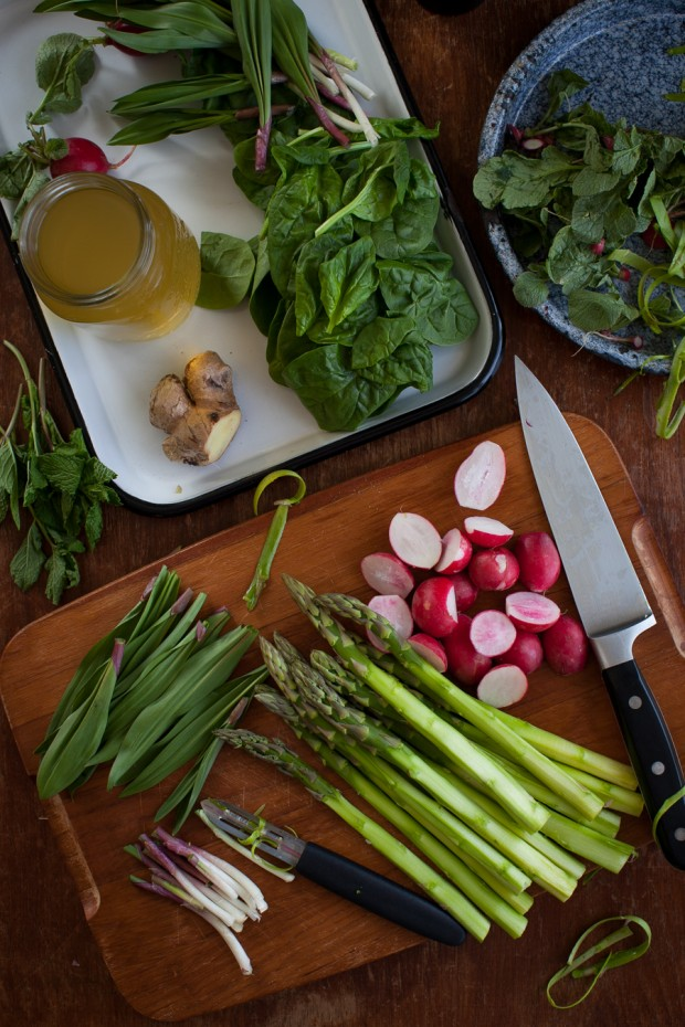 Spring vegetable soup prep | Simple Bites