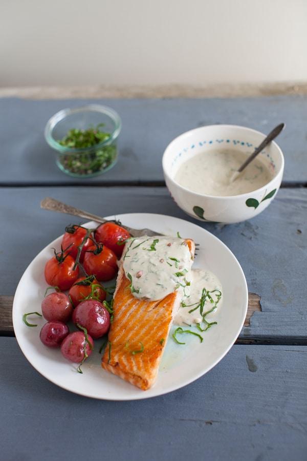 Tahini-Yogurt Sauce | Simple Bites #recipe