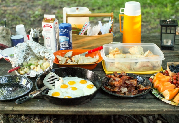 An authentic campfire breakfast (Recipe: Sour Cream & Onion Potato Packets) | Simple Bites #recipe #breakfast #camping