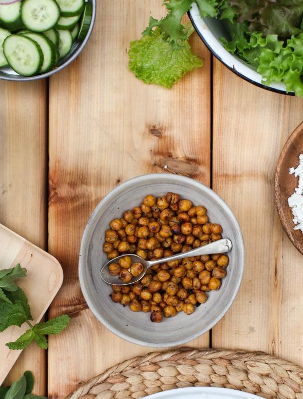 Cumin Roasted Chickpeas | Simple Bites #recipe #snack