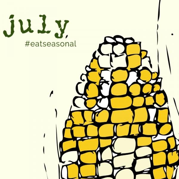 July eat seasonal illustration