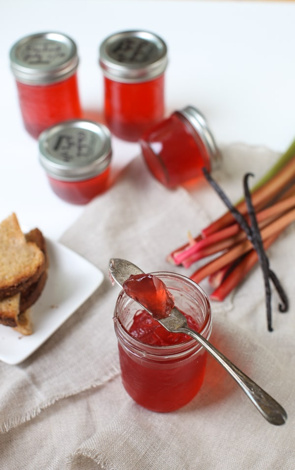 Rhubarb Vanilla Bean Jelly | Simple Bites #recipe #canning #preserving
