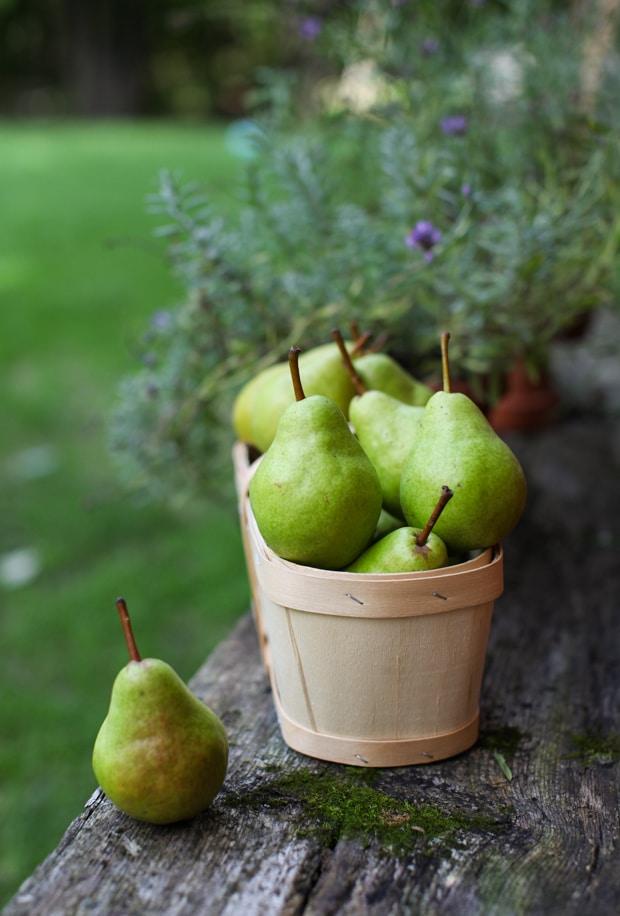 Extra-Crisp Pear Lavender Crisp | Simple Bites #dessert #pears #recipe