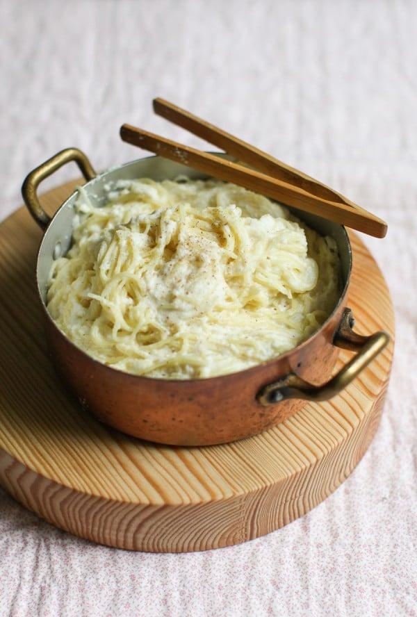 10-Minute Creamy Cauliflower Capellini Recipe | Simple Bites #dinner #recipe #vegetarian #family