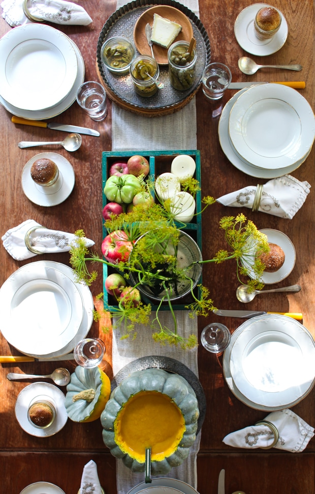 A thrifty Thanksgiving tablescape | Simple Bites #decorating #thanksgving #holiday #harvest