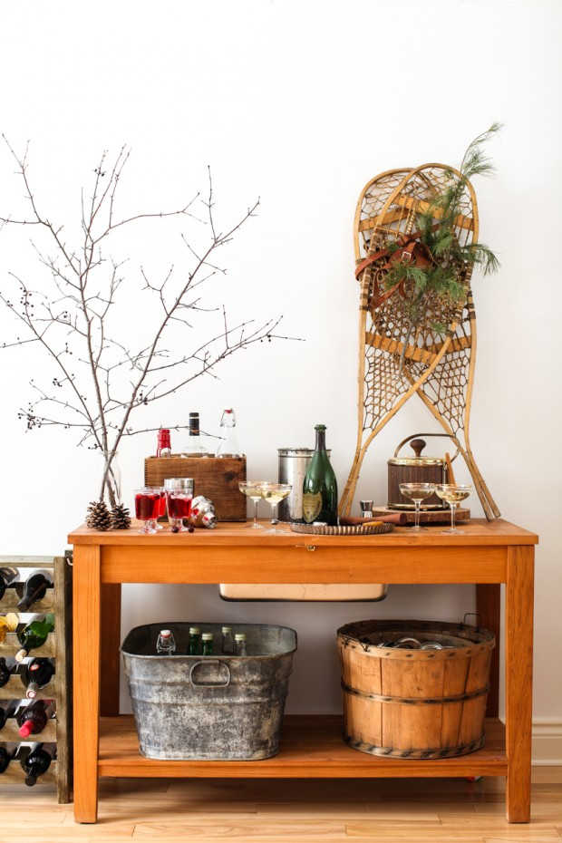 A Winter Home Bar | Simple Bites