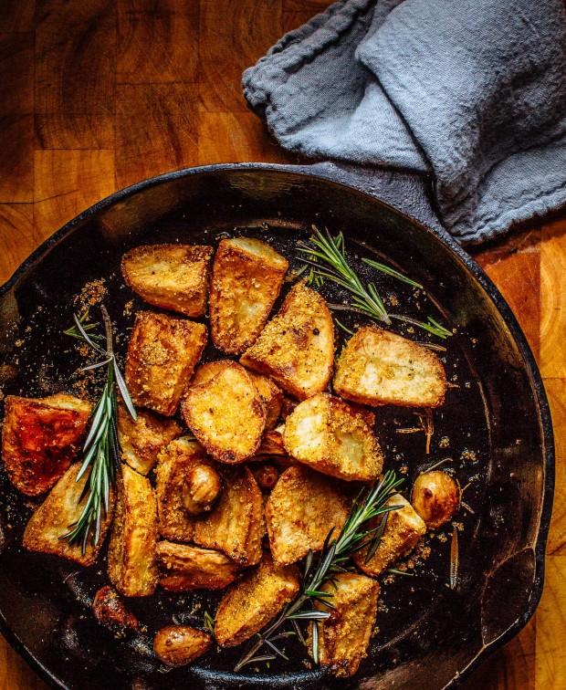 Crispy Potatoes from Brown Eggs & Jam Jars