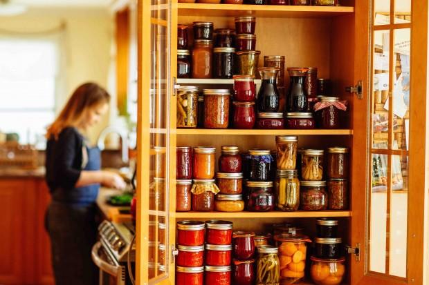 Jam pantry: Brown Eggs & Jam Jars