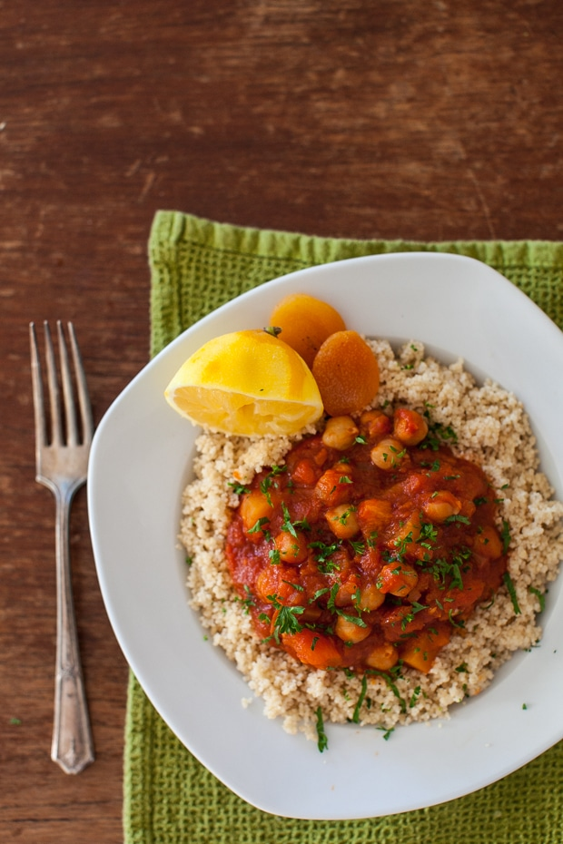 Slow Cooker Chickpea Stew with Apricots & Turnip