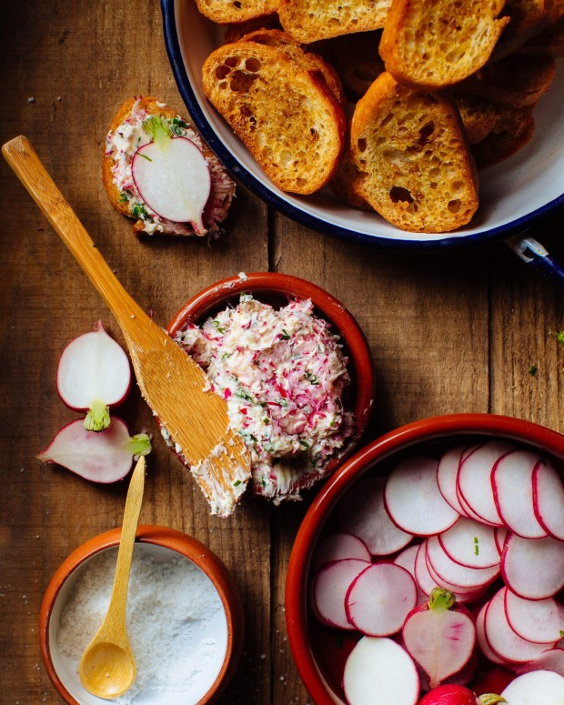 Radish Chive Butter from Brown Eggs & Jam Jars cookbook