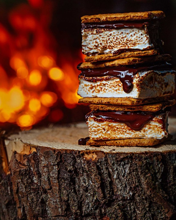 S'mores stacks with maple marshmallows: Brown Eggs & Jam Jars cookbook
