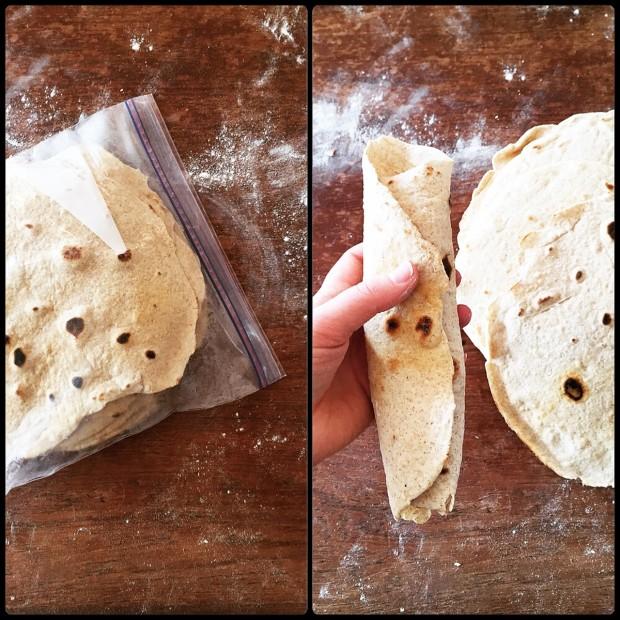 flour tortilla hack