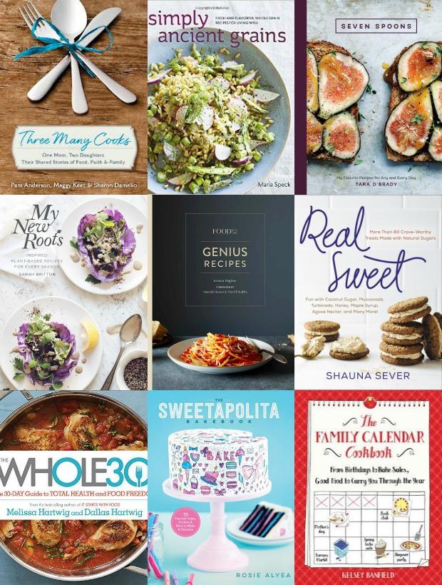 Spring Cookbooks Collage