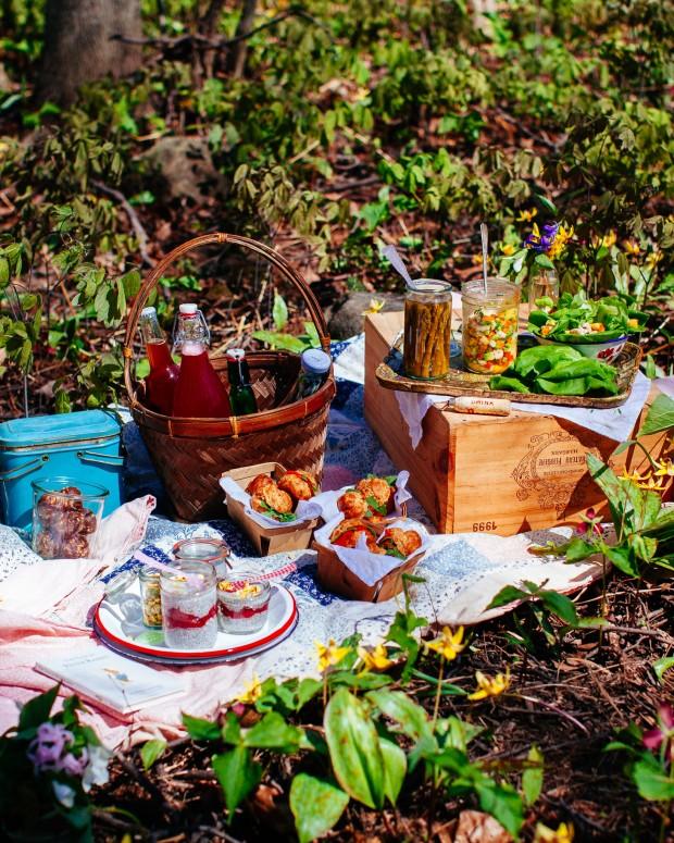 Spring picnic - Brown Eggs and Jam Jars