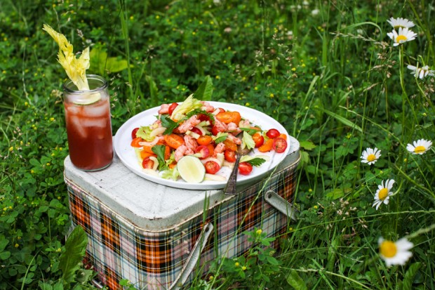 Bloody Caesar Shrimp Salad || Simple Bites #salad #eatseasonal #recipe