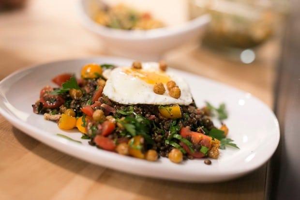 Bacon, Lentil & Tomato Salad | Simple Bites #recipe
