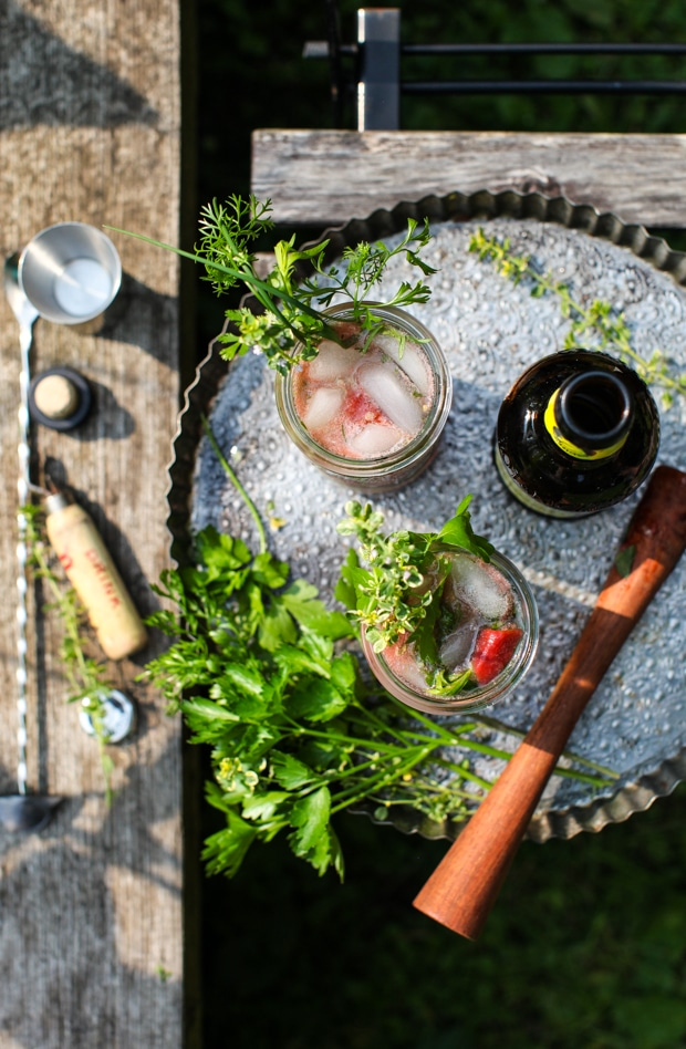 Herbal Homestead Gin & Tonic | Simple Bites #recipe #cocktail
