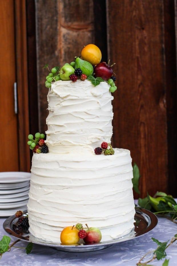 A simple summer wedding cake    Simple Bites #cake #weddingcake