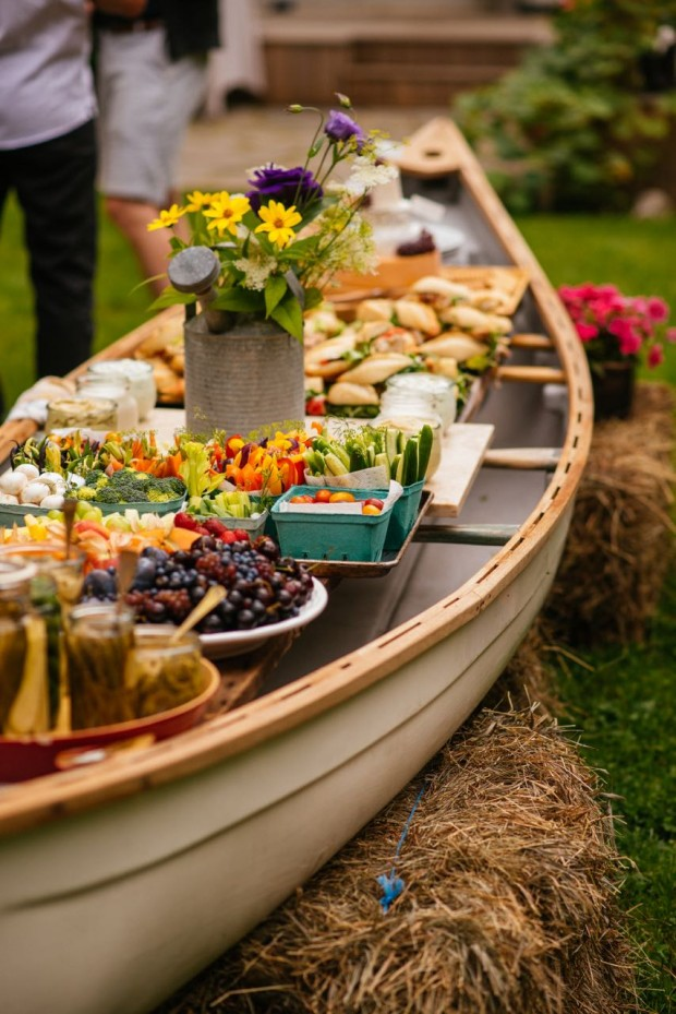 How to set up an outdoor buffet in a canoe | Simple Bites